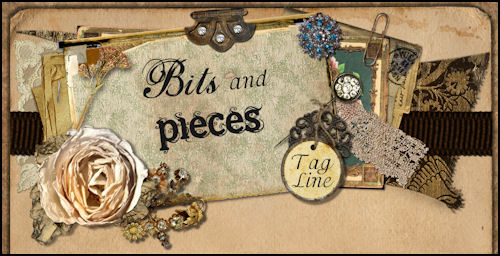 Bits and Pieces Vintage Scrap Grunge Web Design Template