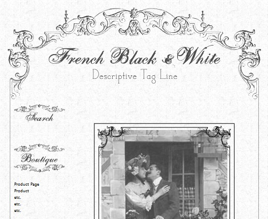 Vintage French Black & White