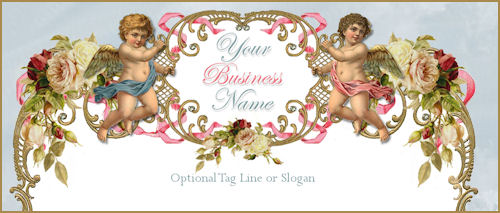 Romantic Victorian Cherubs Elegance Website Template