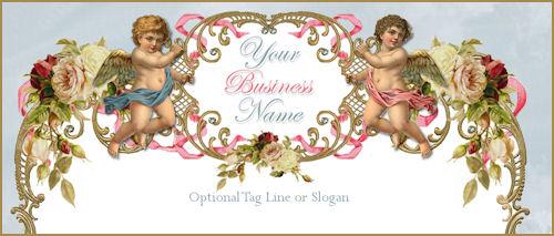Romantic Victorian Cherubs Elegance Website Template
