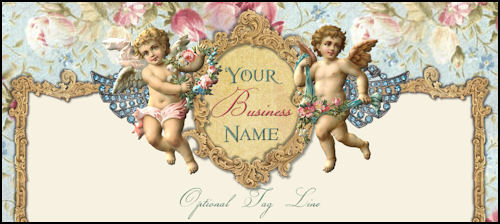 Romantic Cherubs Victorian Website Template