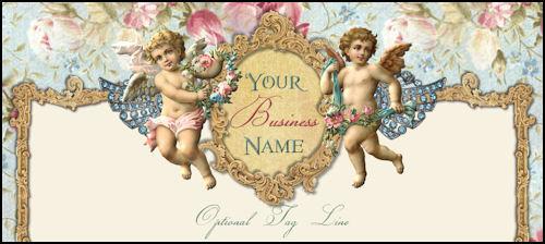 Romantic Cherubs Victorian Website Template