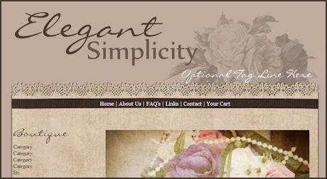 Elegant Simplicity Web Design Template
