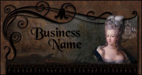 Marie Antoinette Vintage Charm Website Design