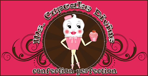 Ms. Cupcake Divine Web Template Package - Original Illustration for Cupcake Business