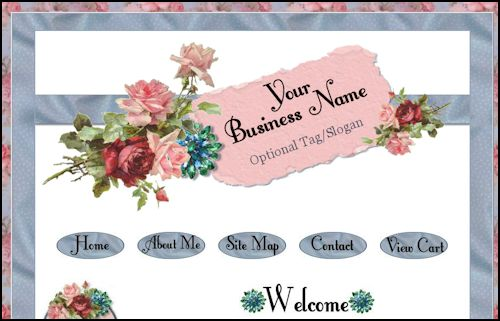 Shabby and Chic Cottage Style Web Design Template - Resell