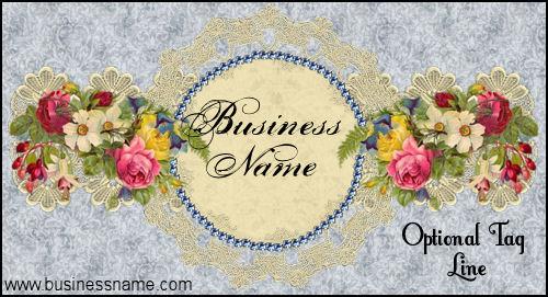 Victorian Bleu Lace - Web Site Template
