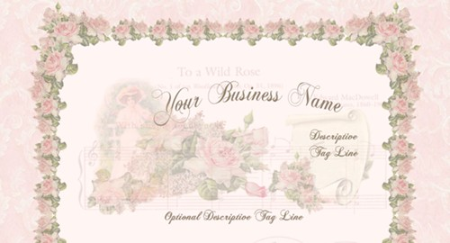 Pink Roses on Vintage Music Sheet