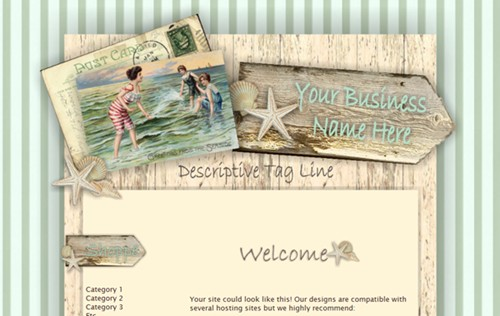 Vintage Beach - Design by Jill