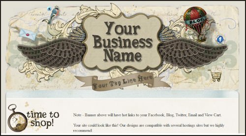 A Little Steampunk - A Little Scrap - Web Template
