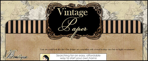 Vintage Paper Scrap Website Template