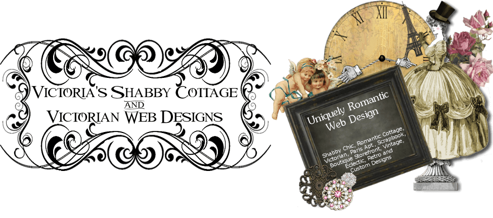 Victorias Shabby Cottage logo and banner