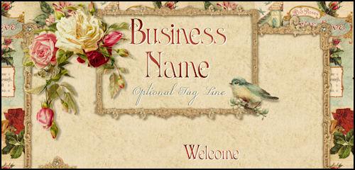 Romantic Victorian Roses Web Design Template