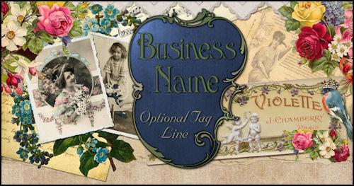 Vintage Victorian Rose Scrap Website Design Template