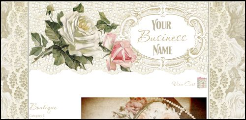 White Roses & Lace - Web Design Template