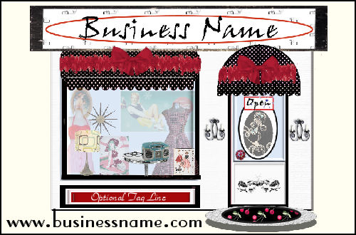 Retro Storefront-  A Julianne Design